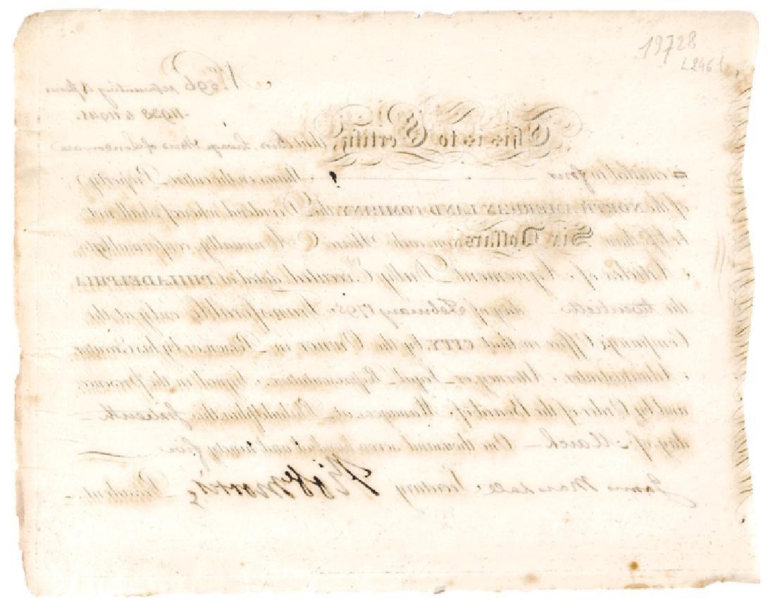 1795 Signer Robert Morris Signed Stock Certificate - 2