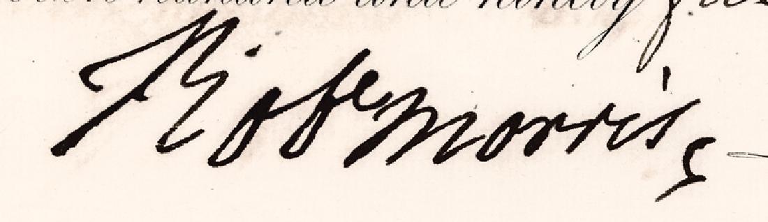 1795 Signer Robert Morris Signed Stock Certificate - 3