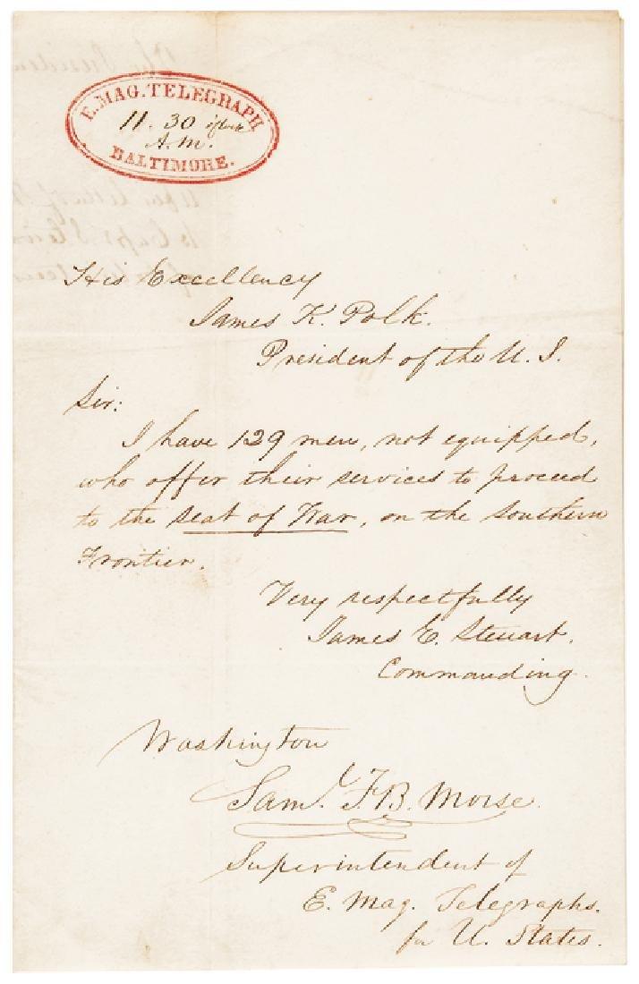 1846 Samuel F. B. Morse Signed Document for US