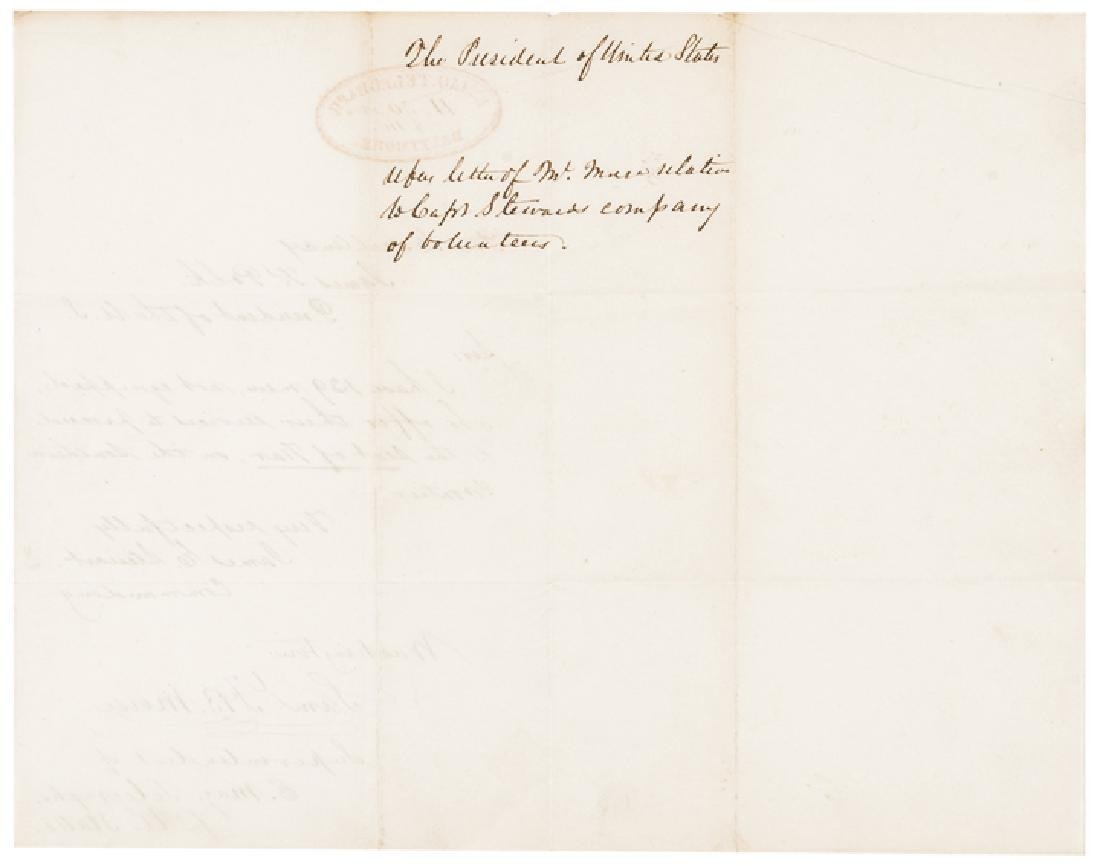 1846 Samuel F. B. Morse Signed Document for US - 2