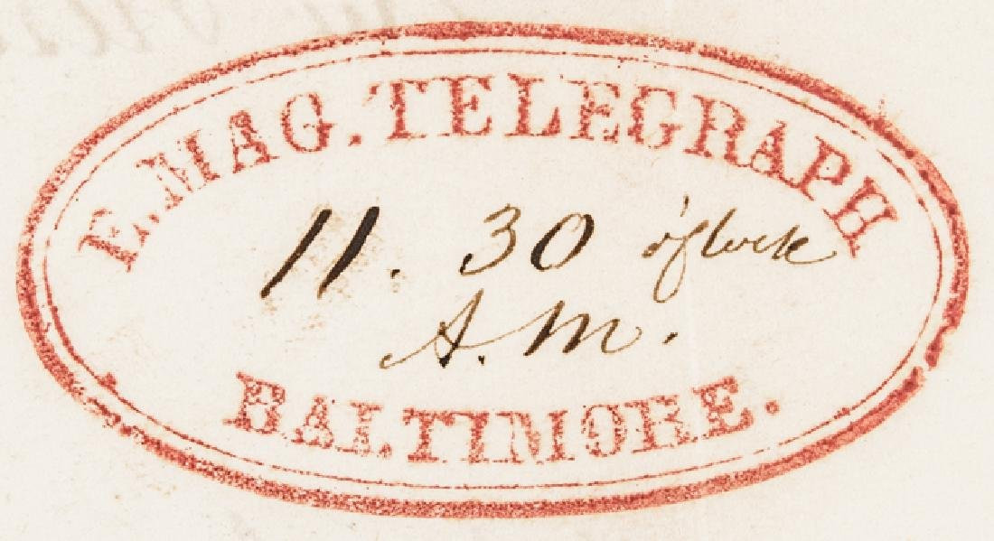1846 Samuel F. B. Morse Signed Document for US - 4