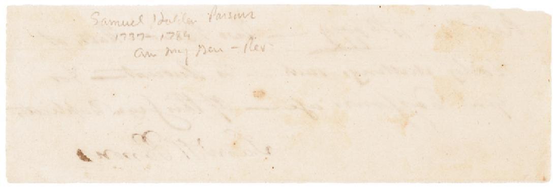1779 Major General SAMUEL HOLDEN PARSONS Signed - 2