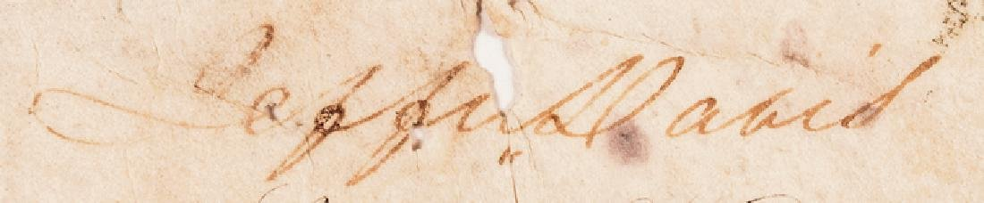 Franklin Pierce + Jefferson Davis Signed Document - 3