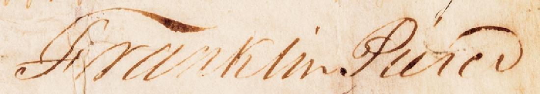 Franklin Pierce + Jefferson Davis Signed Document - 4