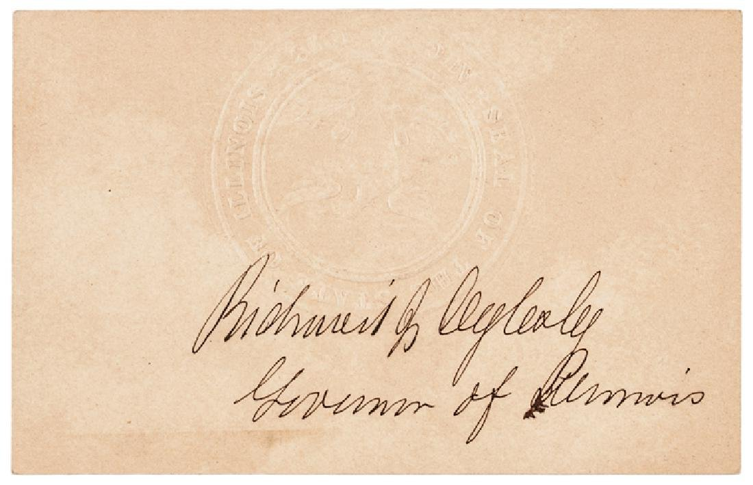 18 Autographs Civil War Politicians + Governors! - 9