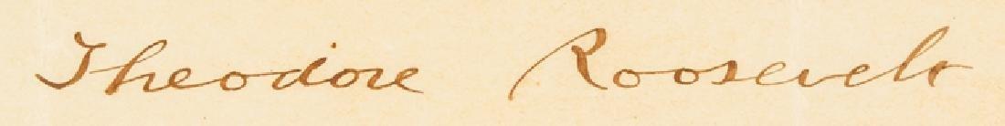 1907 President Theodore Roosevelt Signed Document - 2