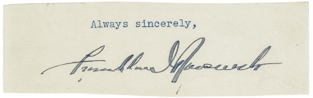 Bold Clipped Signature of FRANKLIN D. ROOSEVELT
