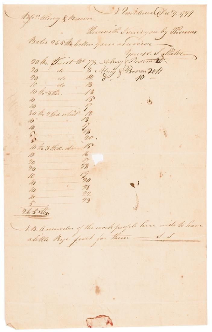 1799 Industrialist SAMUEL SLATER Document Signed