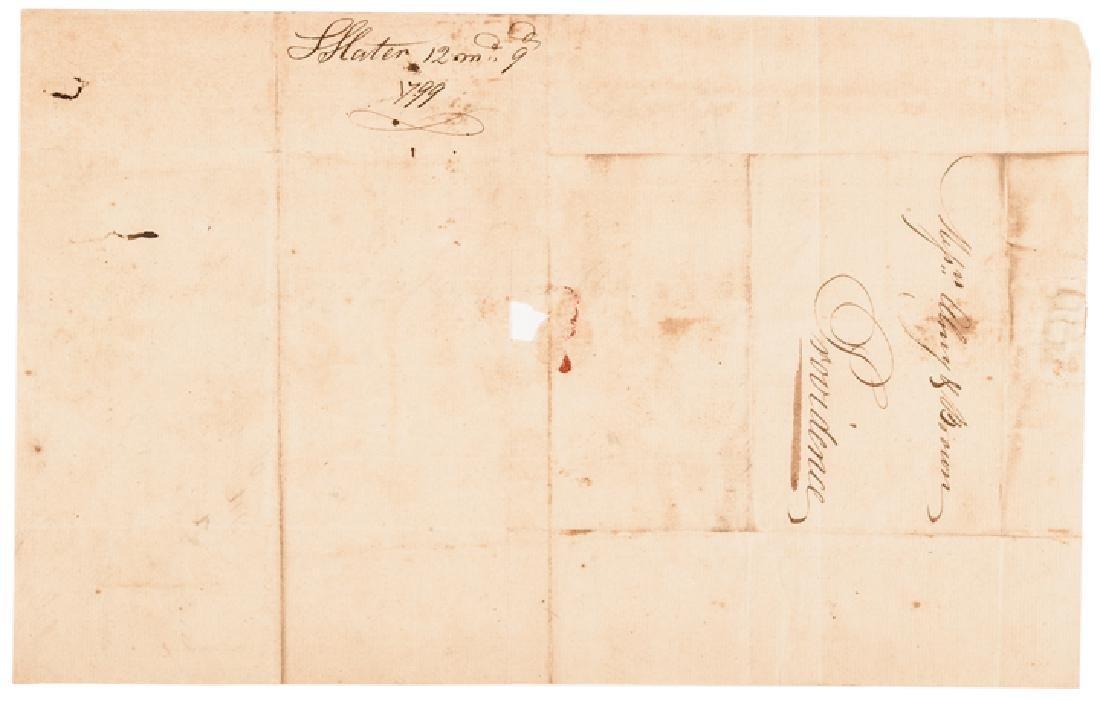 1799 Industrialist SAMUEL SLATER Document Signed - 2