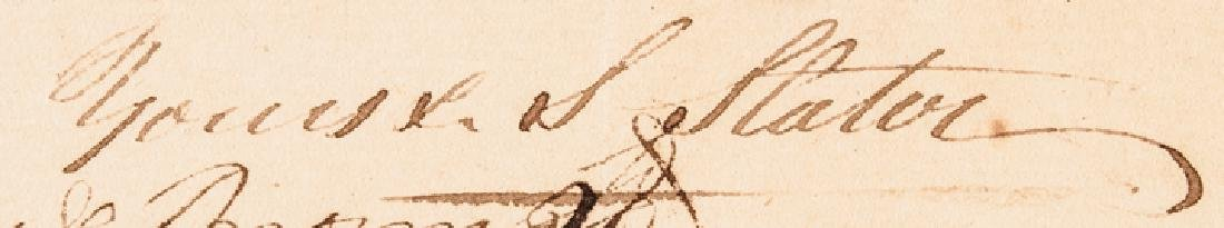 1799 Industrialist SAMUEL SLATER Document Signed - 3