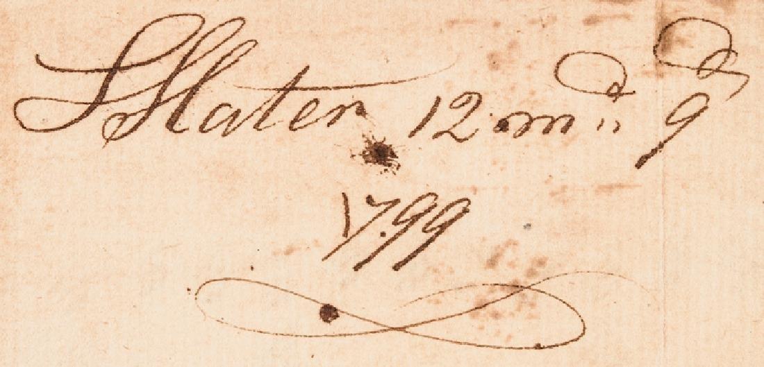 1799 Industrialist SAMUEL SLATER Document Signed - 4