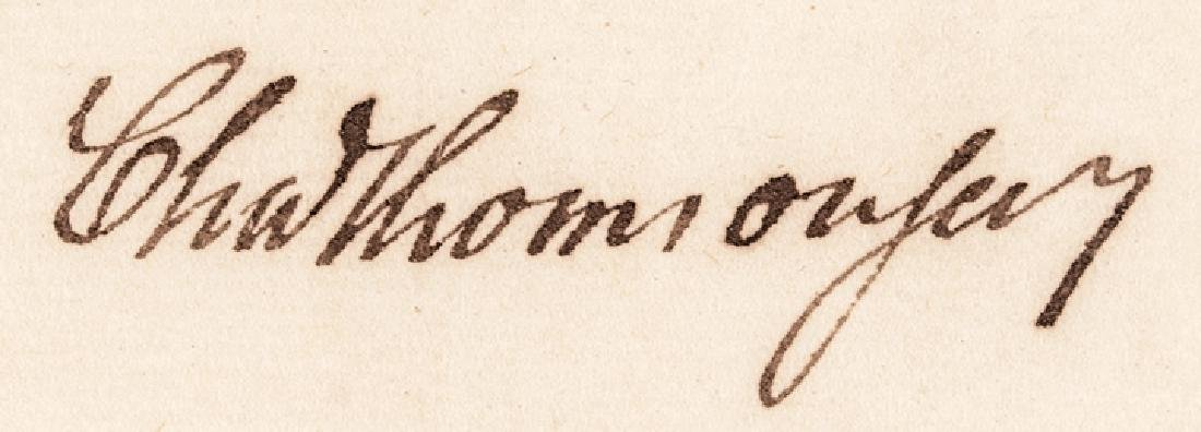 CHARLES THOMSON Treasury Autograph Letter Signed - 4