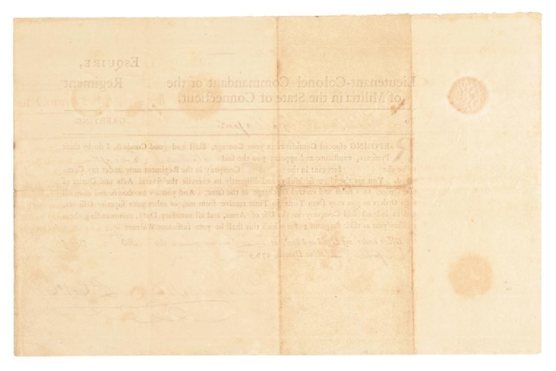 1795 COLONEL DANIEL TILDEN CT Militia Appointment - 2