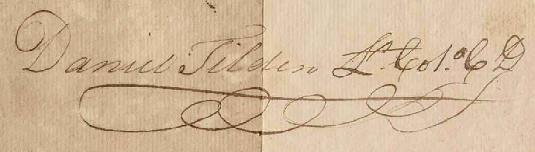 1795 COLONEL DANIEL TILDEN CT Militia Appointment - 3