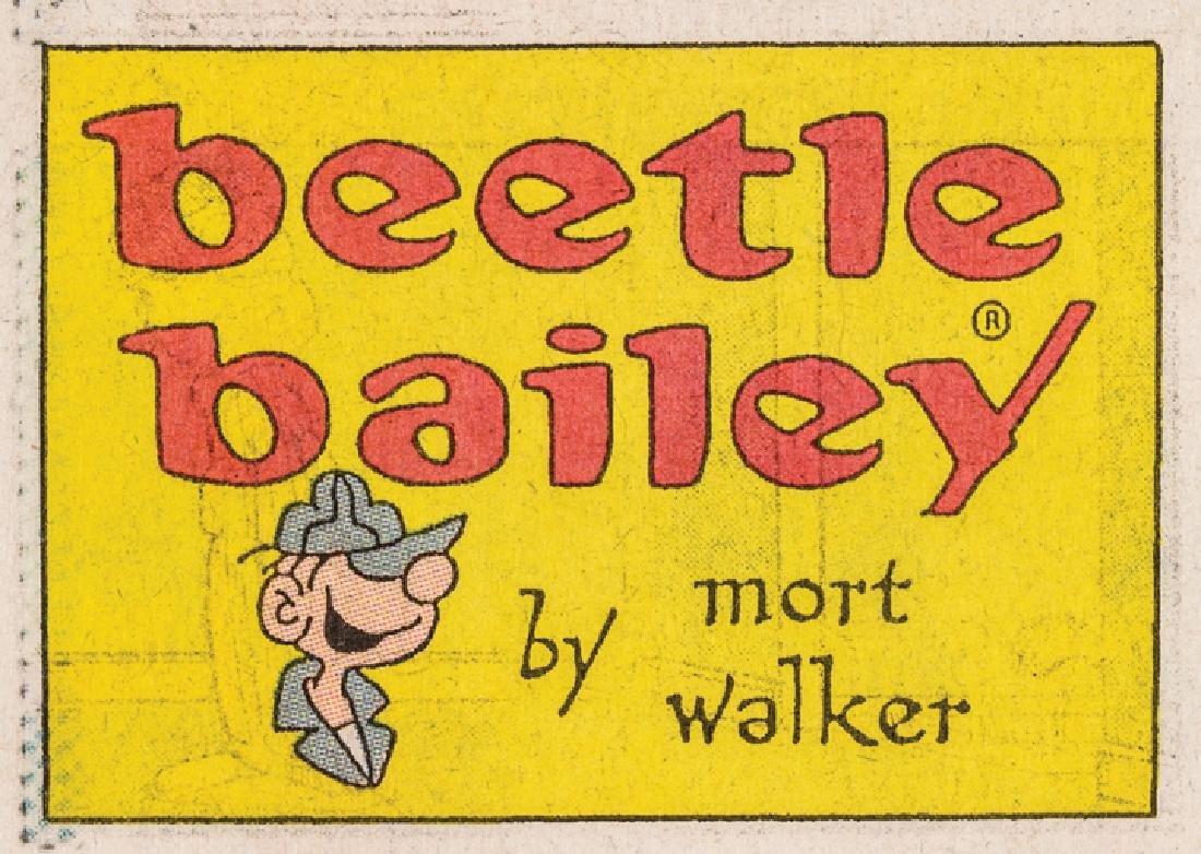 ADDISON MORT WALKER Signed BEETLE BAILEY Strip! - 3