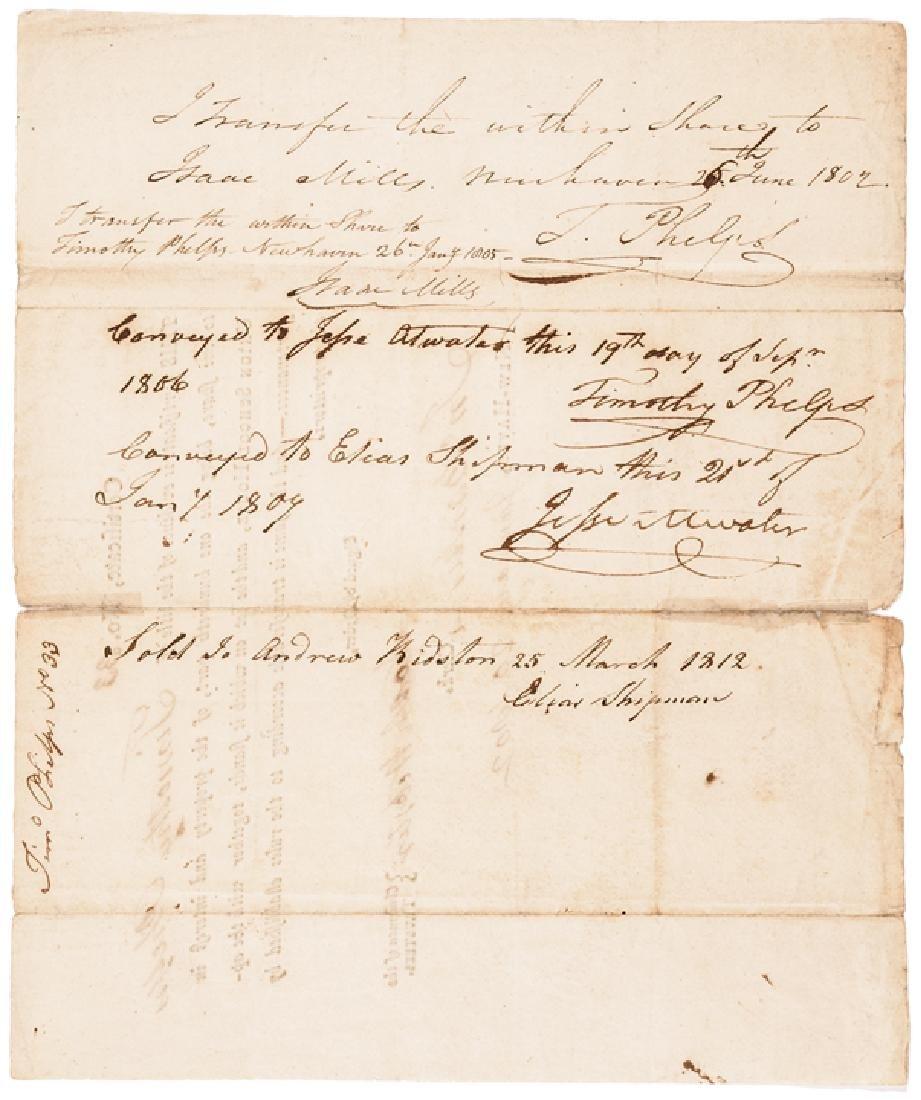 1802 NOAH WEBSTER Signed UNION SCHOOL HOUSE Stock - 2
