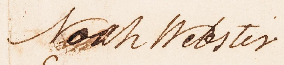 1802 NOAH WEBSTER Signed UNION SCHOOL HOUSE Stock - 3