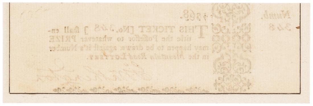 1768 GEORGE WASHINGTON Signed VA. Lottery Ticket! - 2