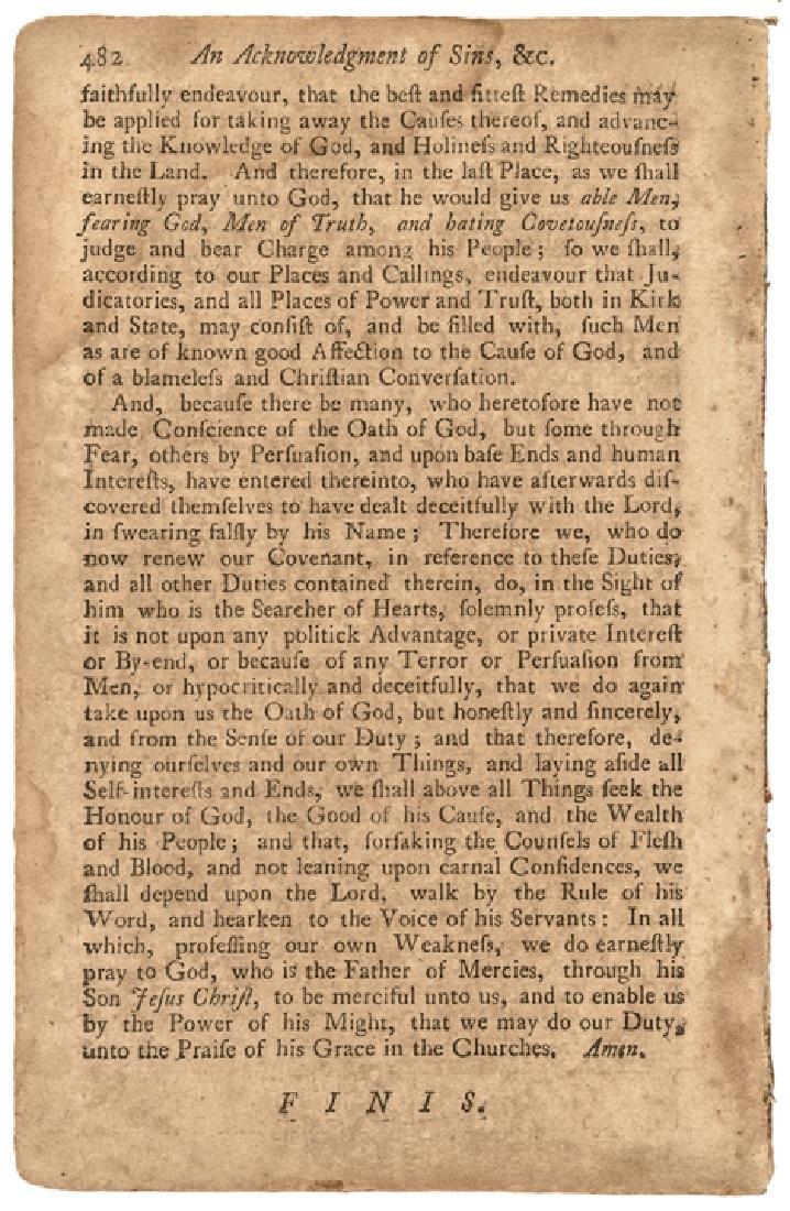 1745 BENJAMIN FRANKLIN Rare Religious Imprint - 2