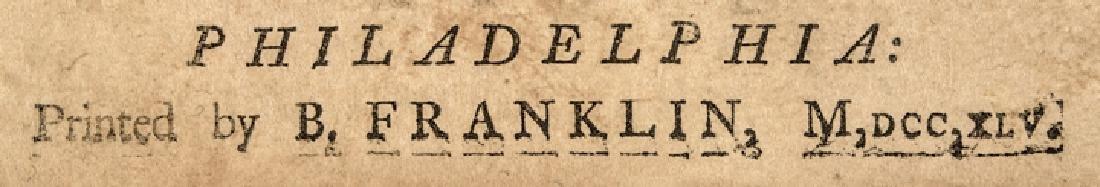 1745 BENJAMIN FRANKLIN Rare Religious Imprint - 3