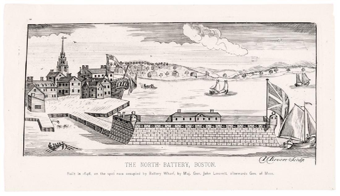 Paul Revere Jr. Engraved Reprint: North-Battery