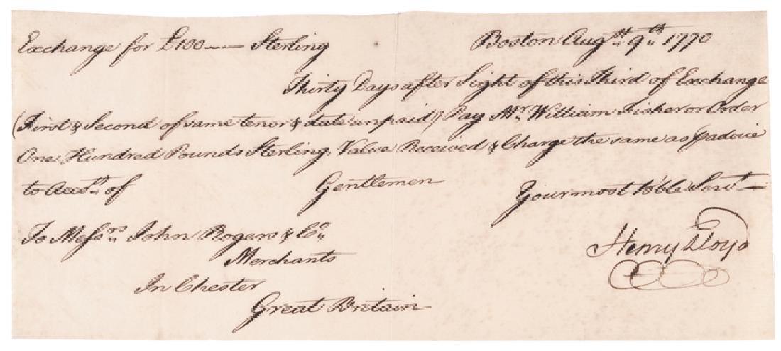 Autograph Document Signed Merchant Henry Lloyd
