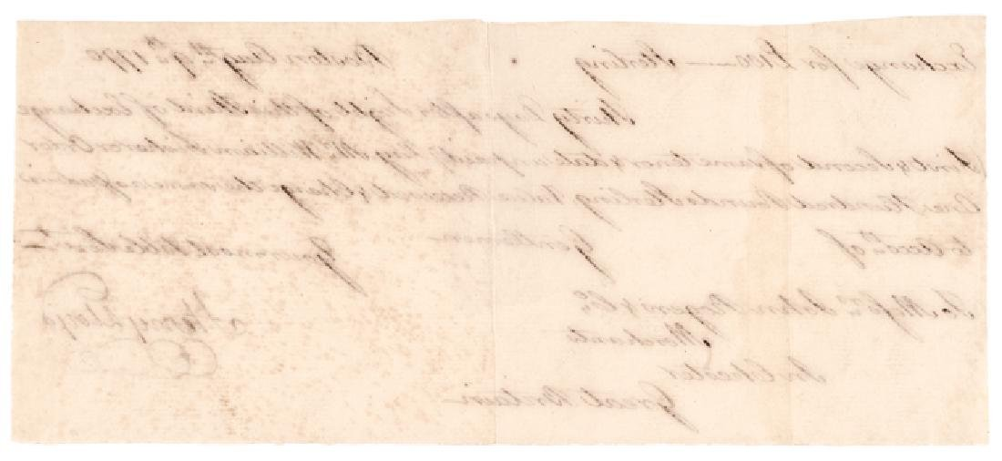 Autograph Document Signed Merchant Henry Lloyd - 2