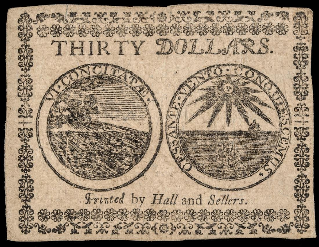 Continental Congress Currency TWO 1777 Notes - 2