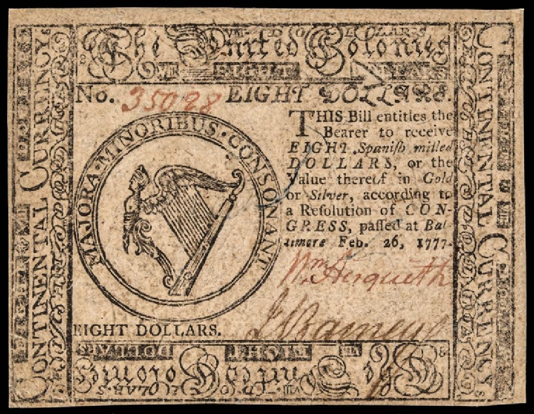 Continental Congress Currency TWO 1777 Notes - 3