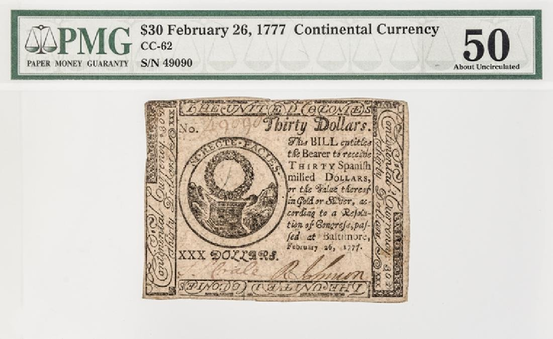 Continental Congress Currency TWO 1777 Notes - 7