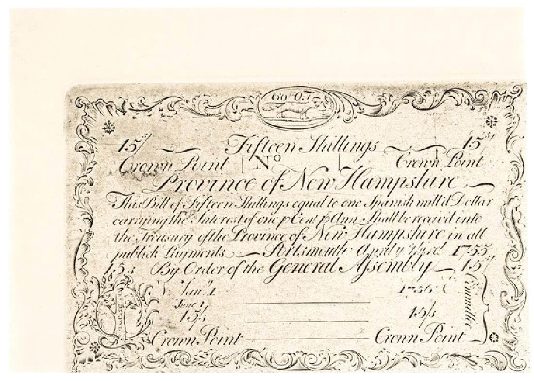 Colonial Currency NH. 1755 Cohen, Reprinted Plate