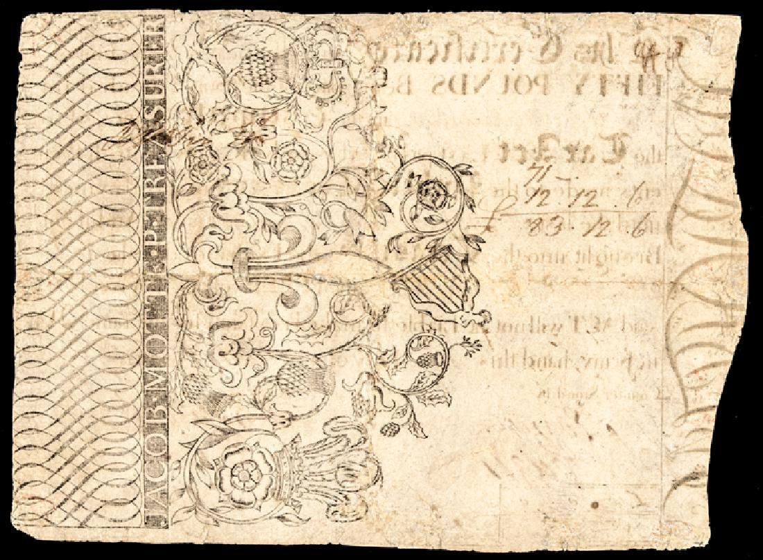 Colonial Currency SC 1750-69 Sept. 1769 50 Pounds - 2