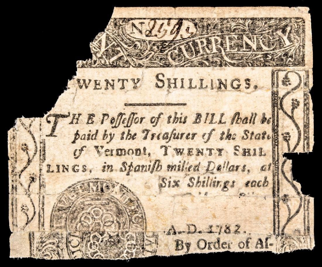 Colonial Currency, VT. February 1781 £1 Partial