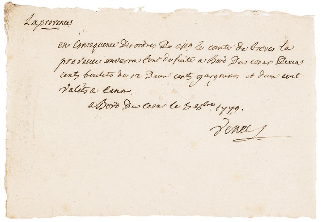 1779 Compte d'Estaing 74Gun French Frigate Caesar
