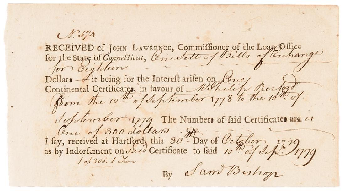 1779 Conn. Copper Coiners Bishop + Platt Signed!