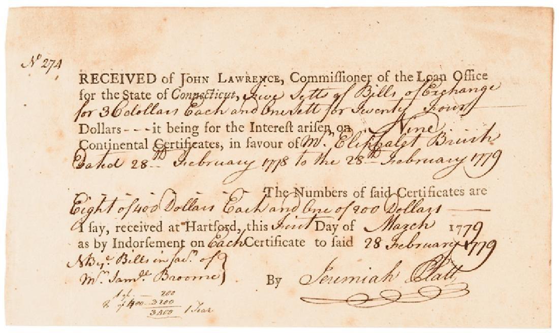 1779 Conn. Copper Coiners Bishop + Platt Signed! - 4