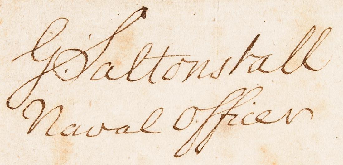 1780 Conn. Privateer Sloop YORK Naval Document - 3