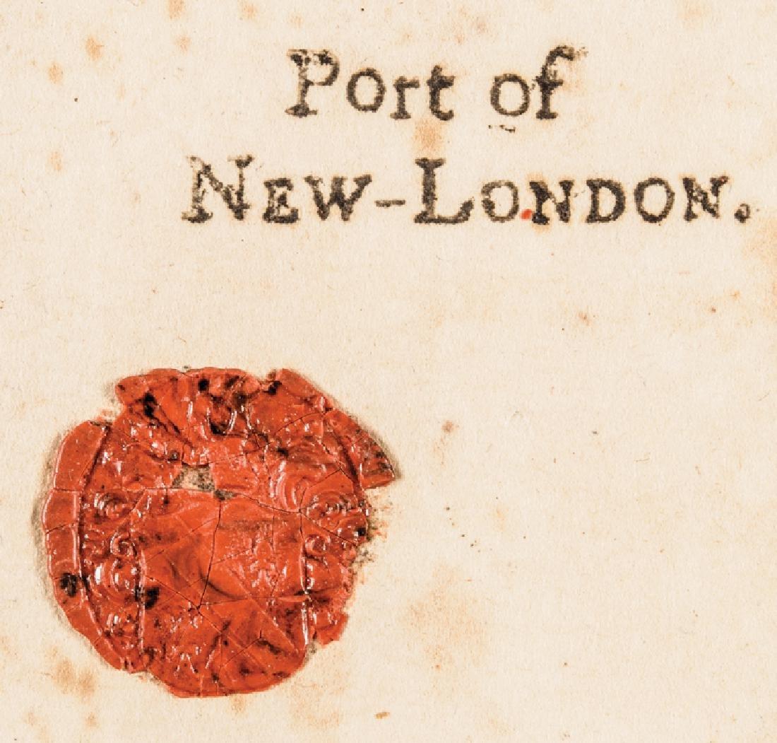 1780 Conn. Privateer Sloop YORK Naval Document - 4