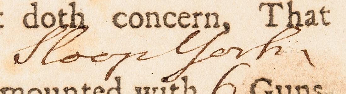 1780 Conn. Privateer Sloop YORK Naval Document - 5