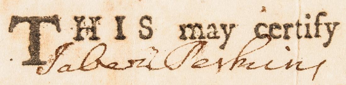 1780 Conn. Privateer Sloop YORK Naval Document - 6