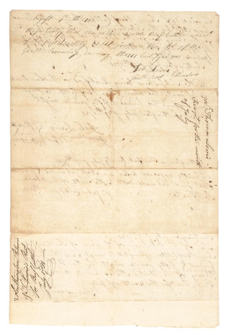 1781 Continental Army Get 7 Southington CT Cattle - 2
