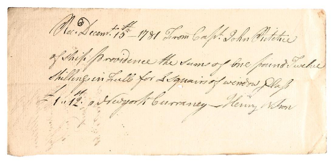 1781 Revolutionary War Capt Ritchies Ships Glass