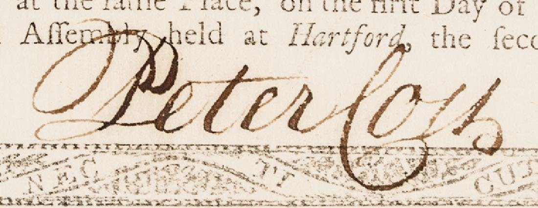 1780 Continental Army Service Connecticut Payment