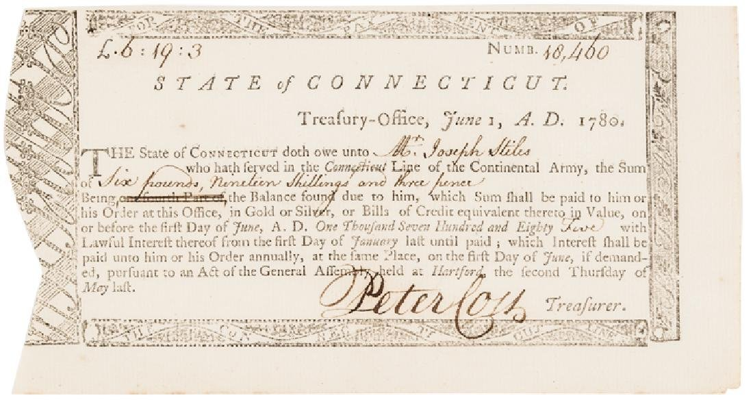 1780 Continental Army Service Connecticut Payment - 5