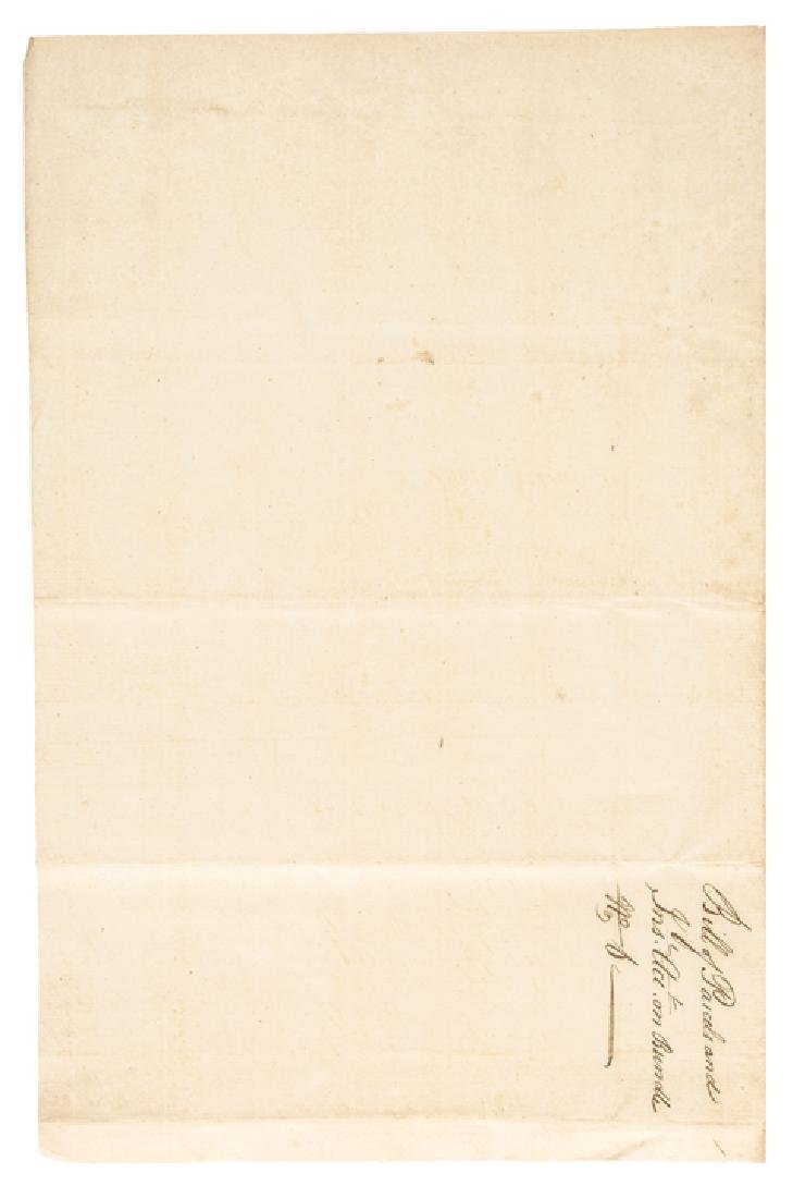 1782 Revolutionary War Paylist, The State of CT. - 2