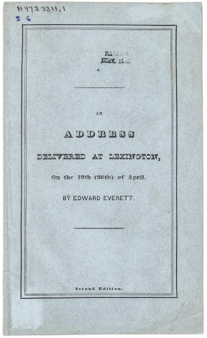 1835 E Everett 60th Anniversary Lexington Battle