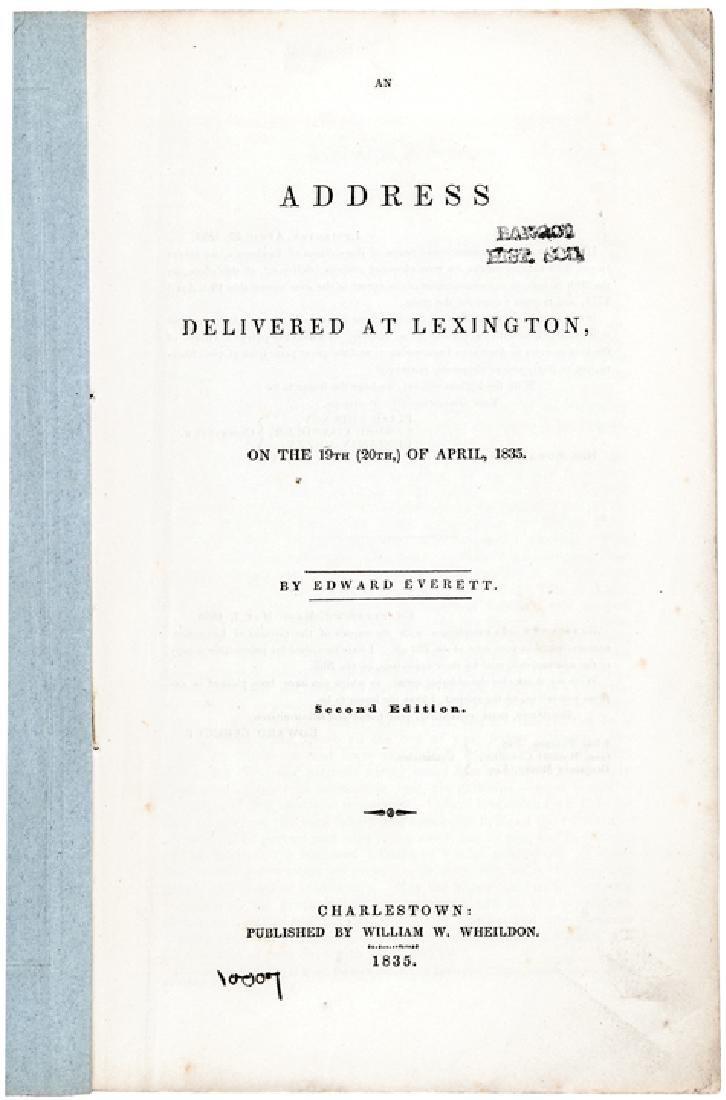 1835 E Everett 60th Anniversary Lexington Battle - 2