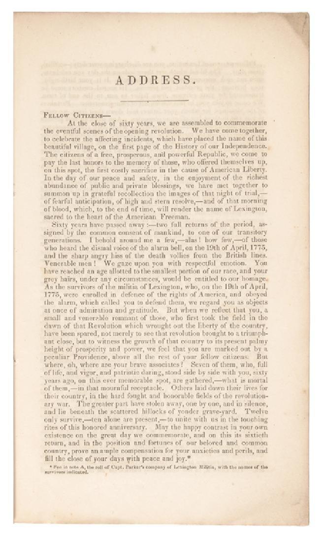 1835 E Everett 60th Anniversary Lexington Battle - 5