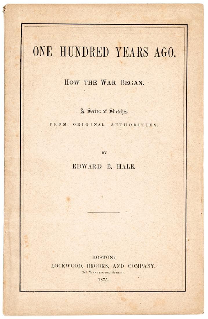 1875 Edward Everett Hale Imprint about Rev War