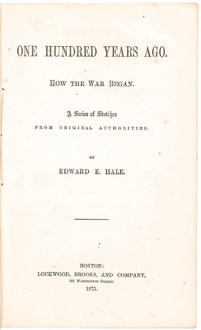 1875 Edward Everett Hale Imprint about Rev War - 2